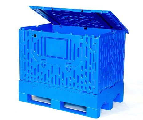 Euro Collapsible Plastic Pallet Box Image
