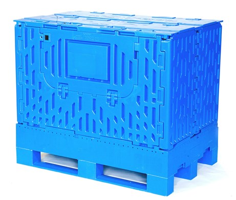 Euro Collapsible Plastic Pallet Box Image